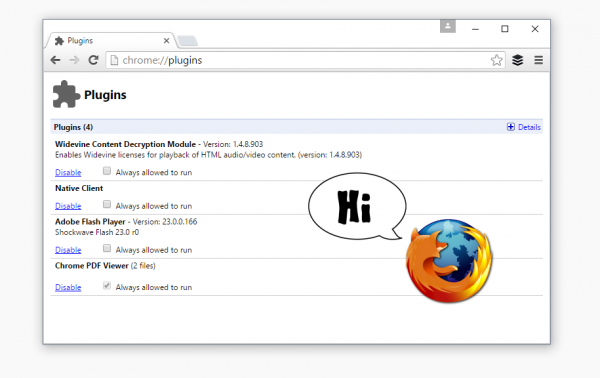 65 Firefox 使用 Chrome 浏览器的 PDF 和 Flash 插件
