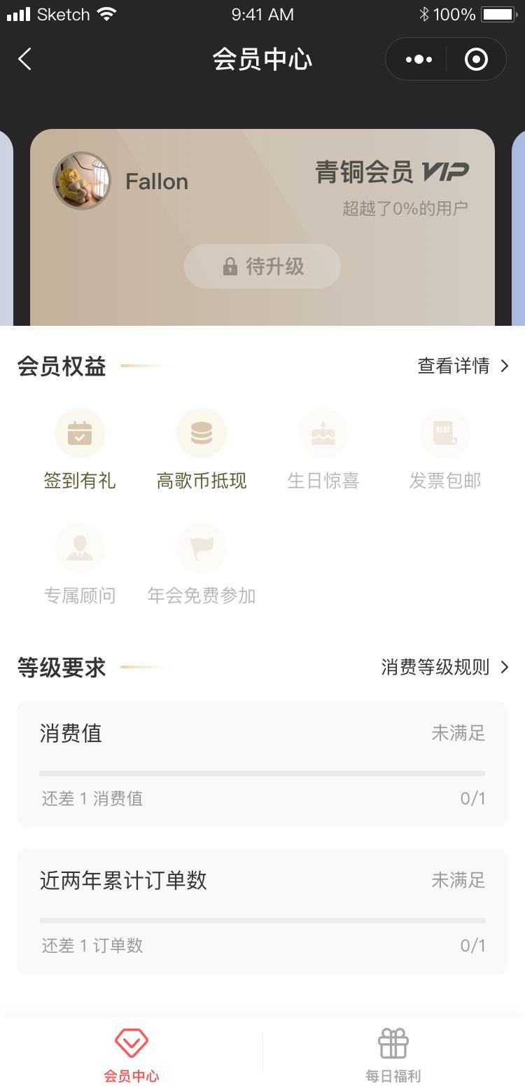 会员中心(青铜会员) 线下门店系统,会员系统设计图
